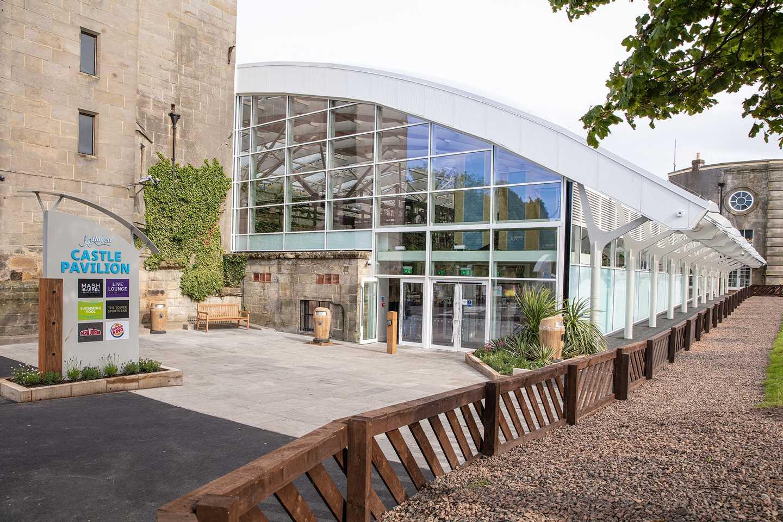 Garden atrium-style entrance