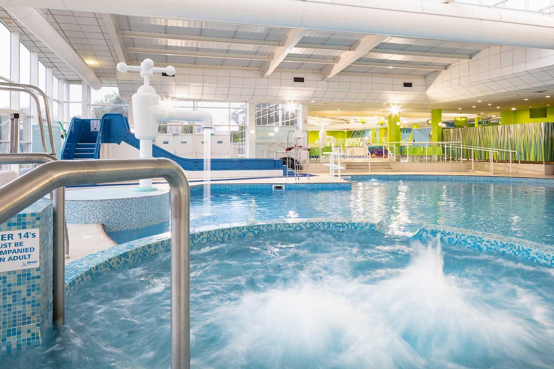 Indoor heated pool at Haggerston castle