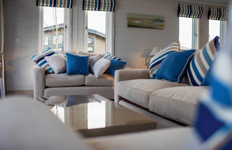Exclusive Lake View Lodge lounge Haggerston castle