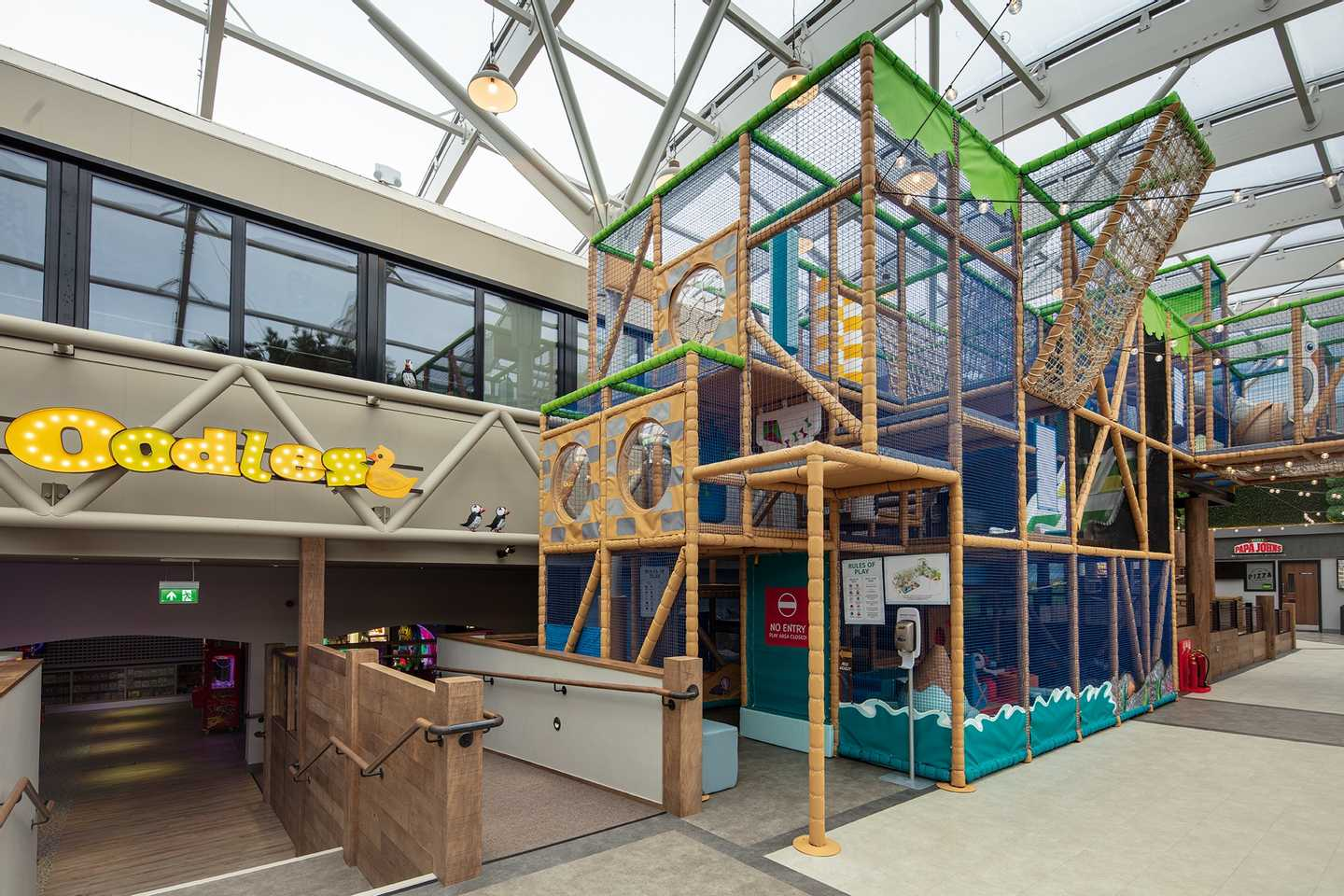 Multi-level indoor soft play area