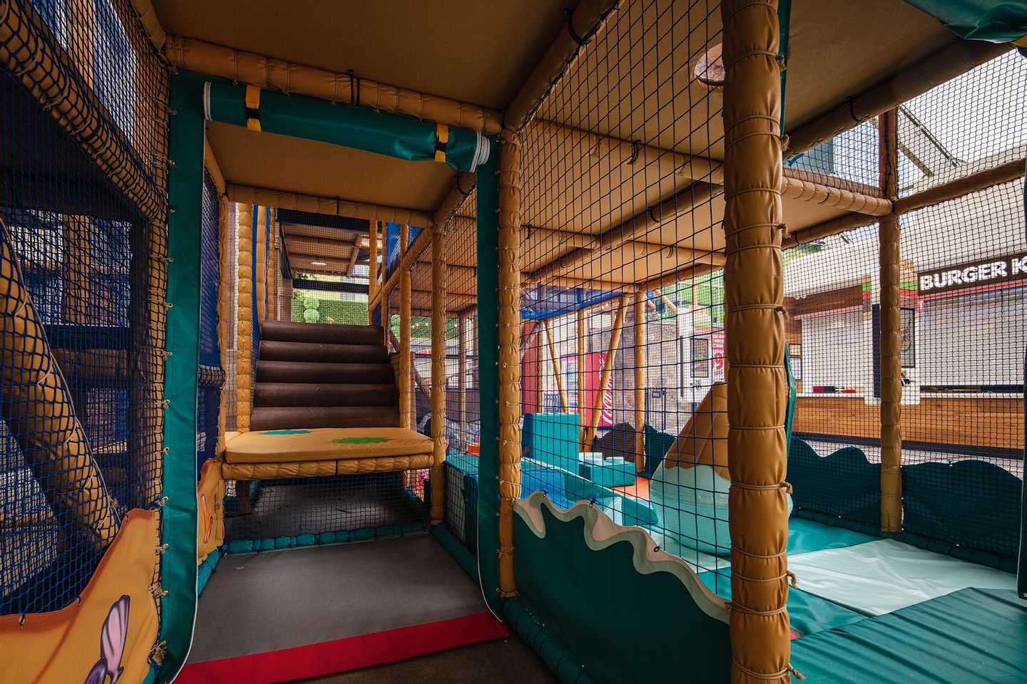The indoor soft play area