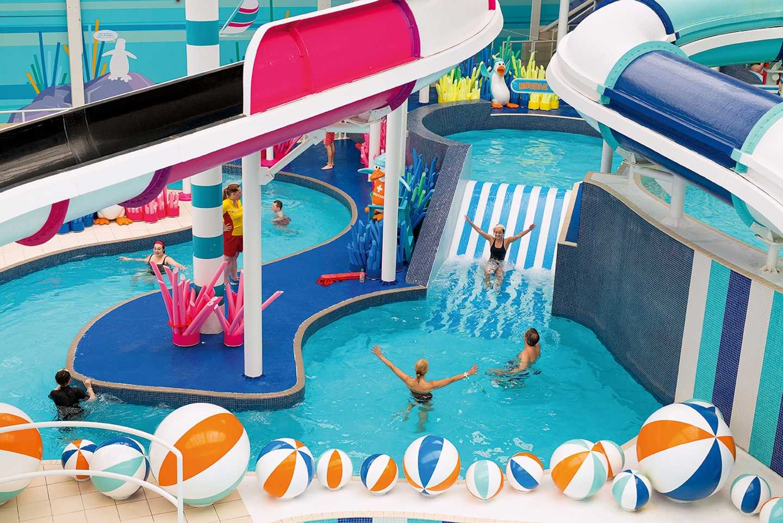 Children playing in the swimming pool at Craig Tara, Scotland