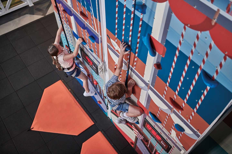 Crazy climber wall at Craig Tara, Scotland