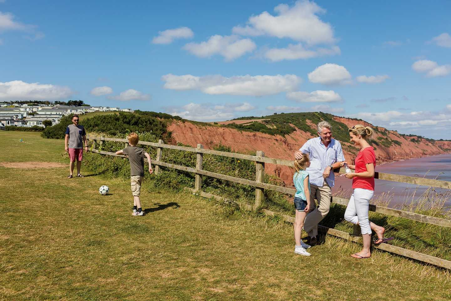 Guests walking along the coastal path