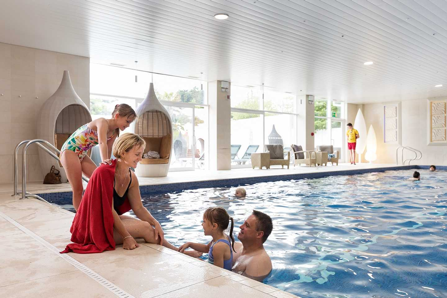 The owners' indoor pool