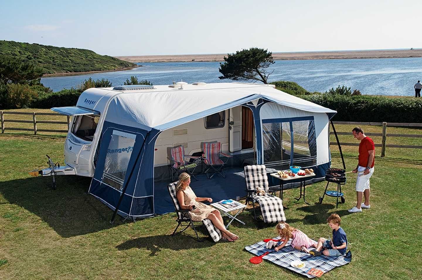 Family staying in a tent in Littlesea