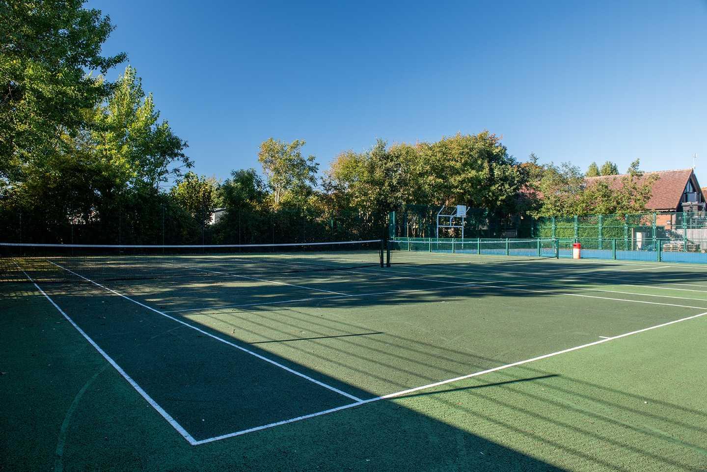 The tennis court at Church Farm