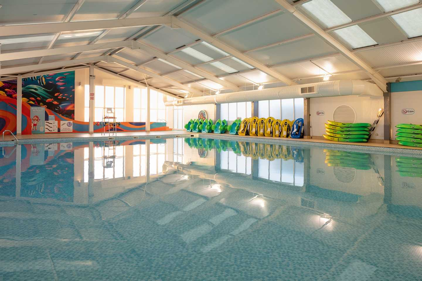 Heated indoor pool at Blue Dolphin