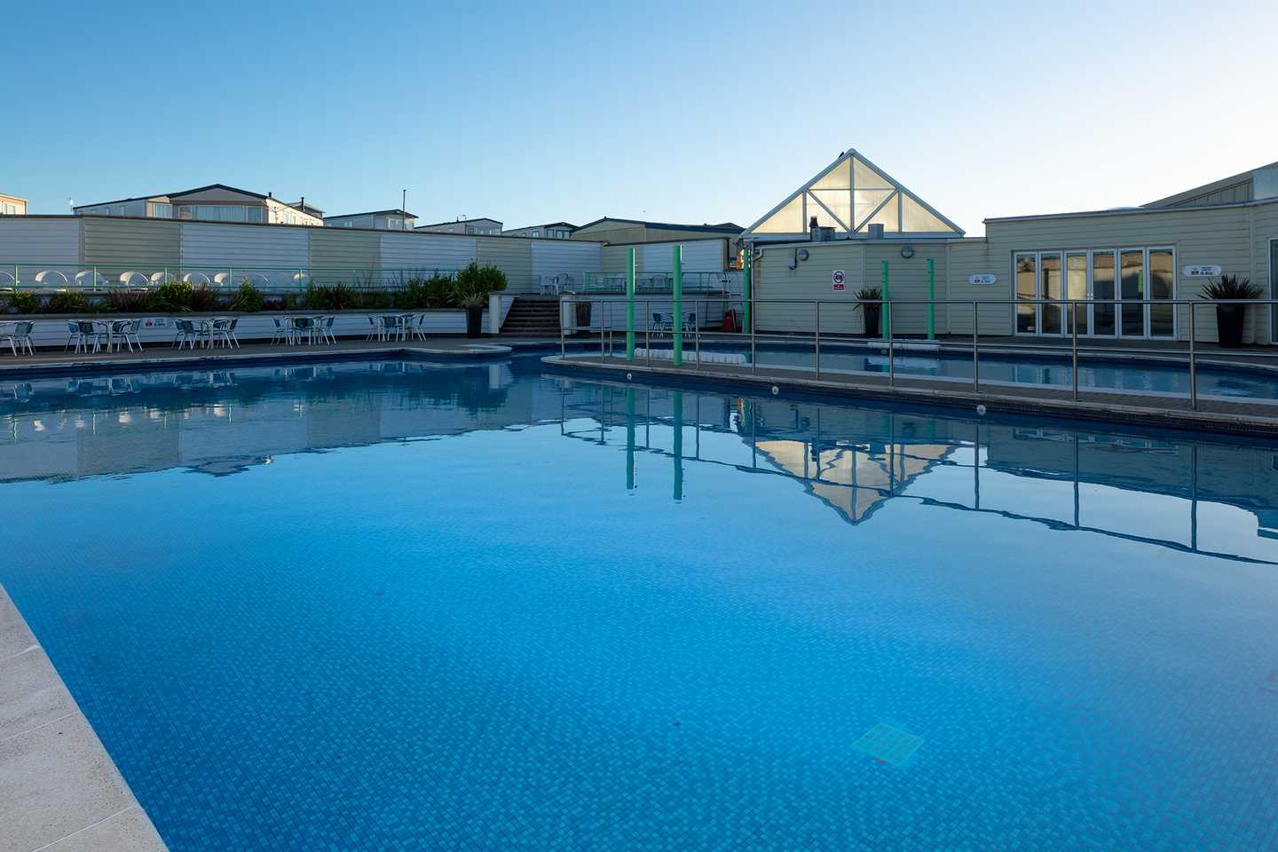 The outdoor pool at Blue Dolphin
