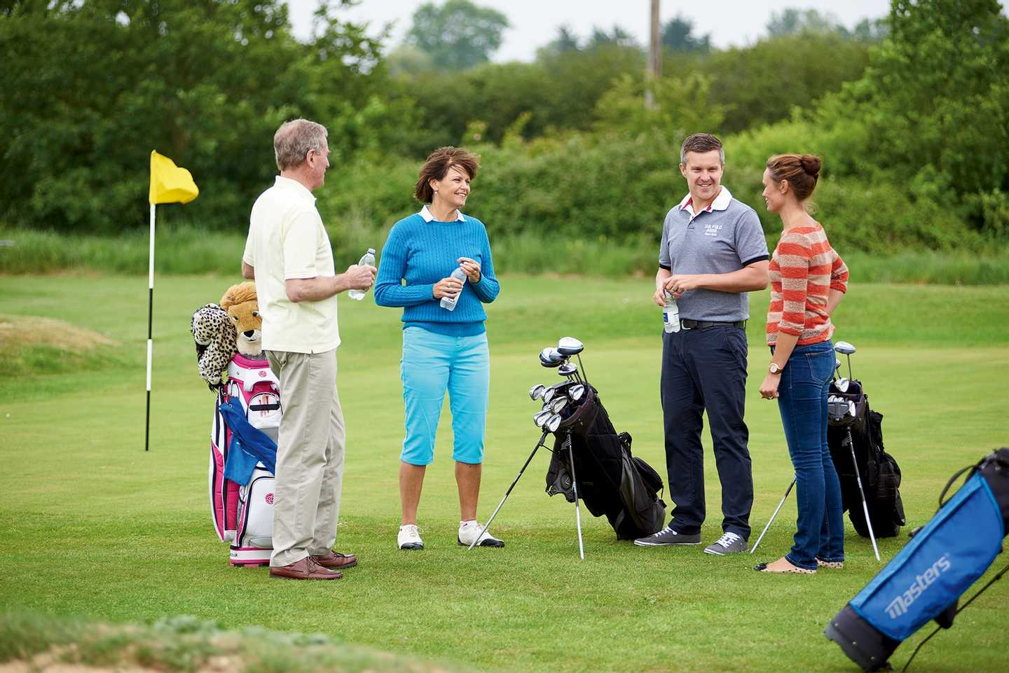 Guests playing a round of golf