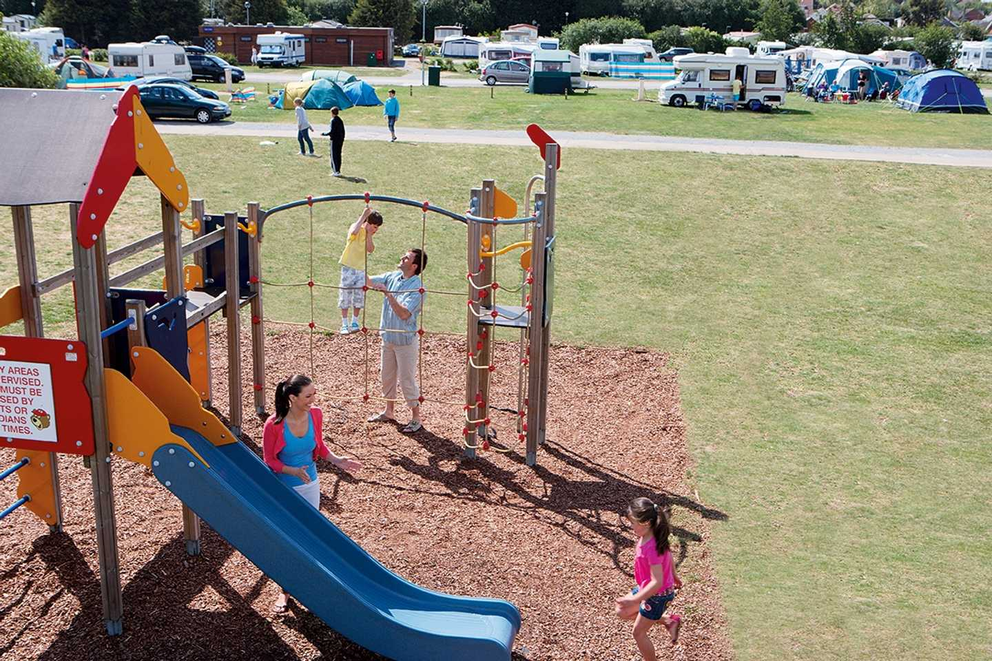Children playing in the touring play area