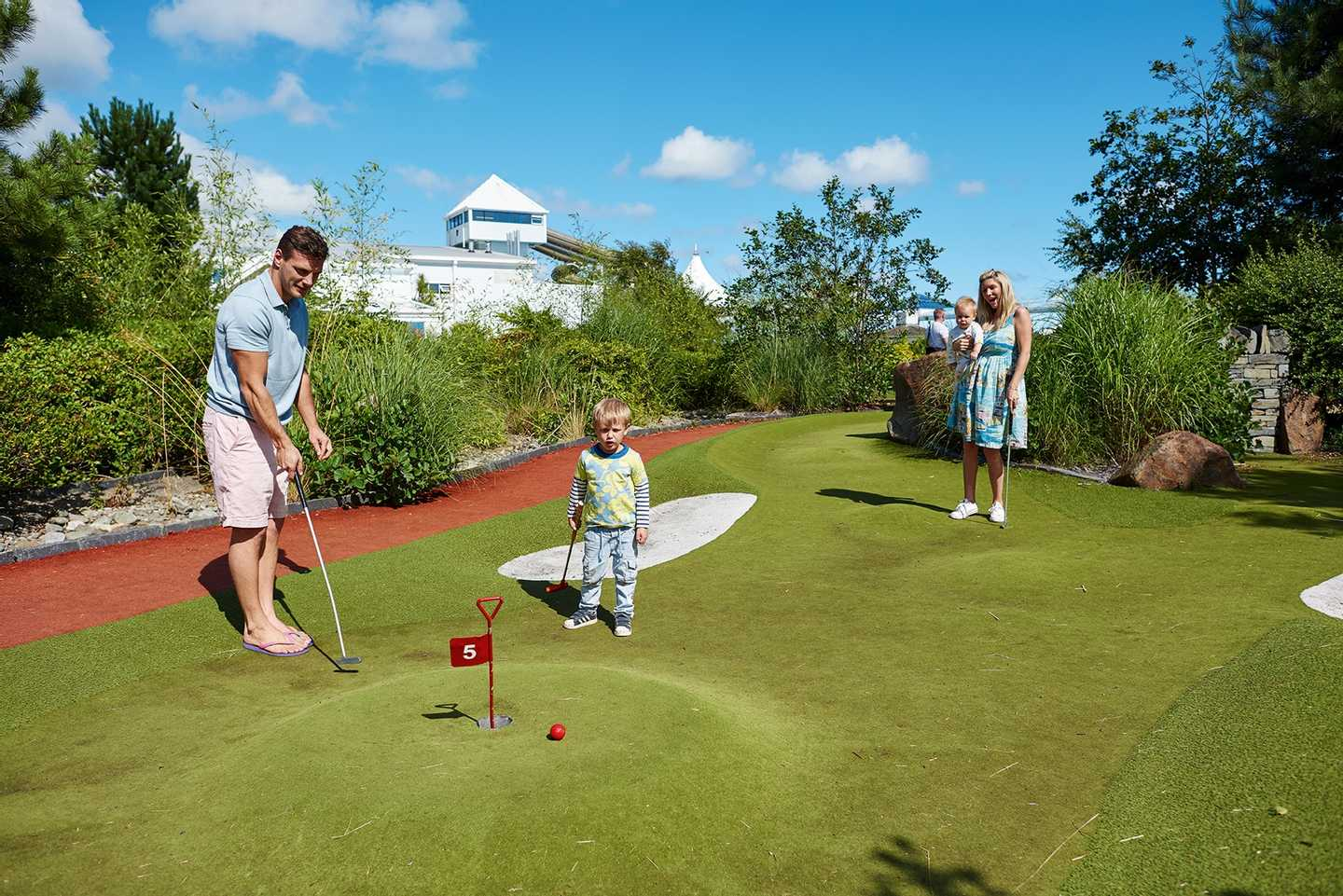 Adventure golf at Hafan y Mor