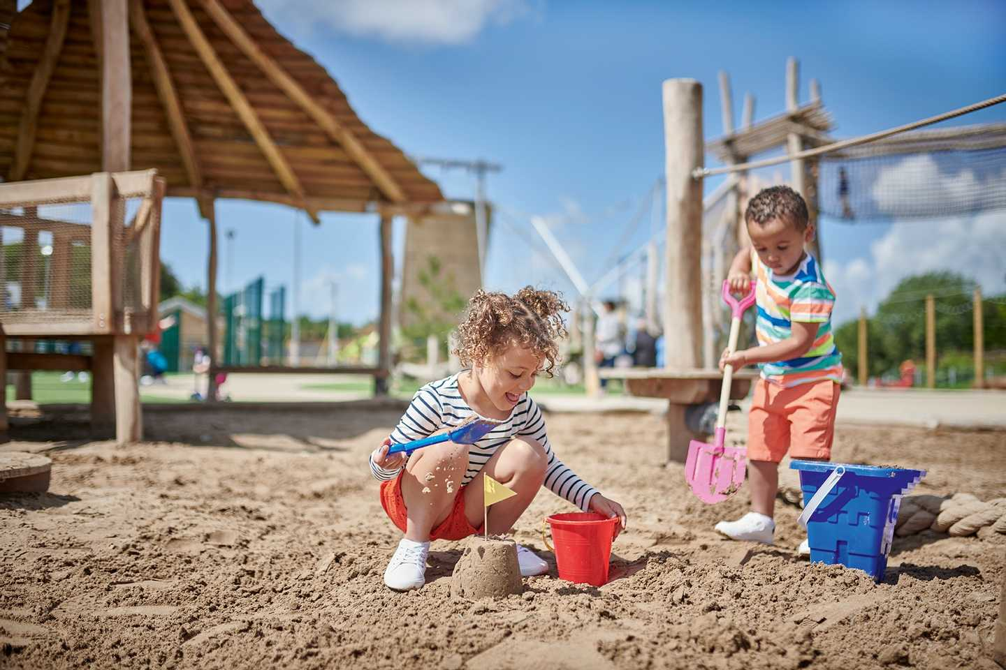 Representation of sand play in an Adventure Village