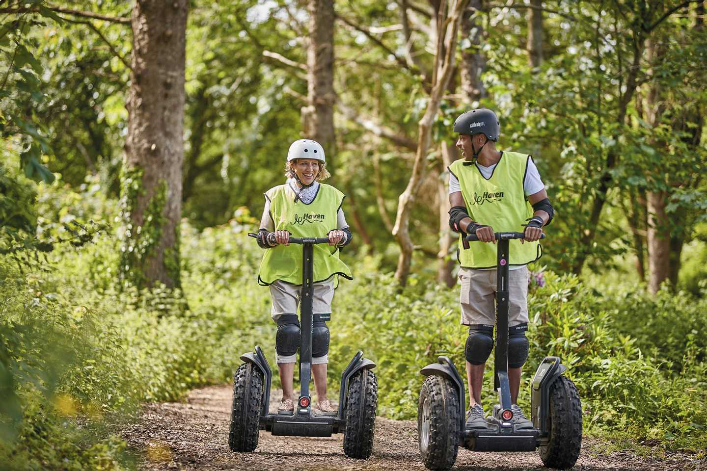 The segways in the Dragon Lakes Adventure VIllage at Hafan