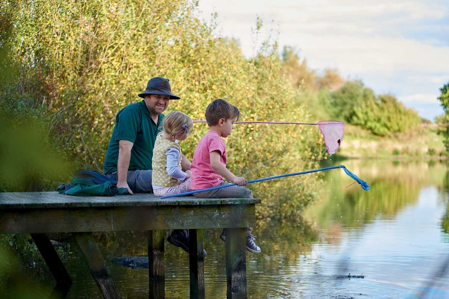 Guests pond dipping in the lake