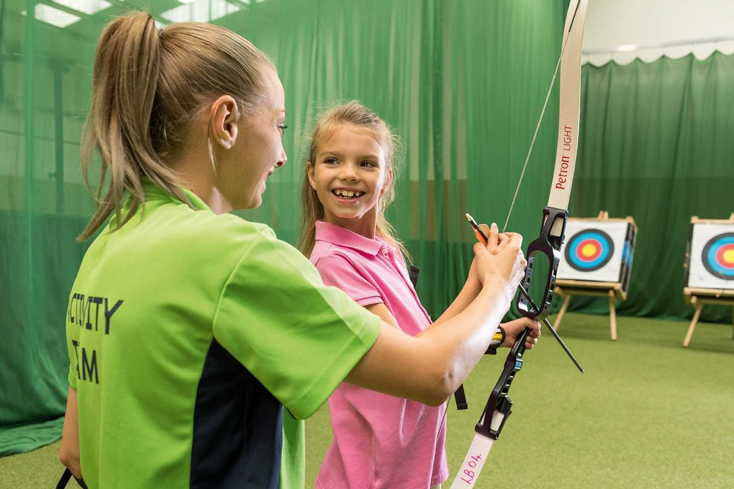 Archery in the all-weather Activity Barn