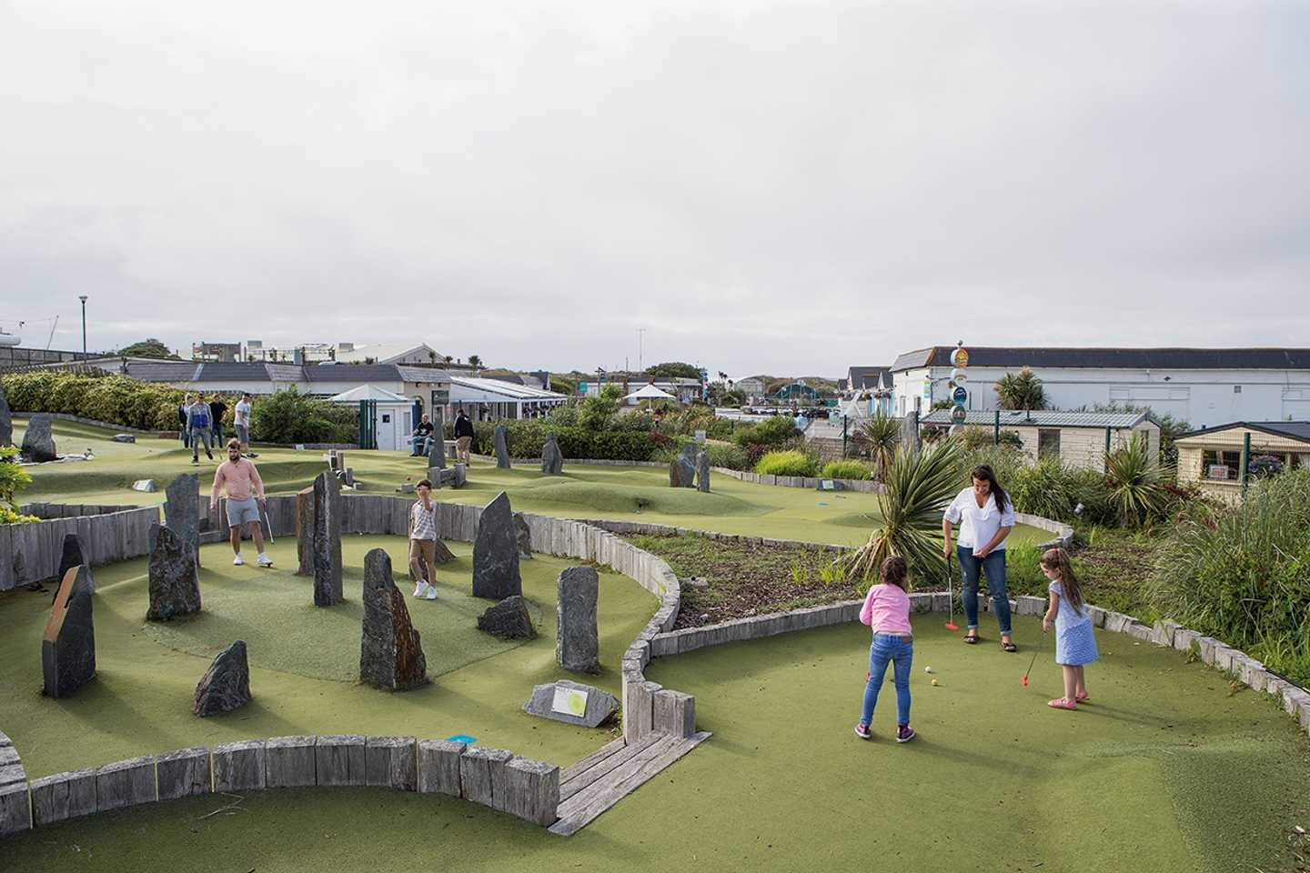 Guests playing on our Adventure Golf course