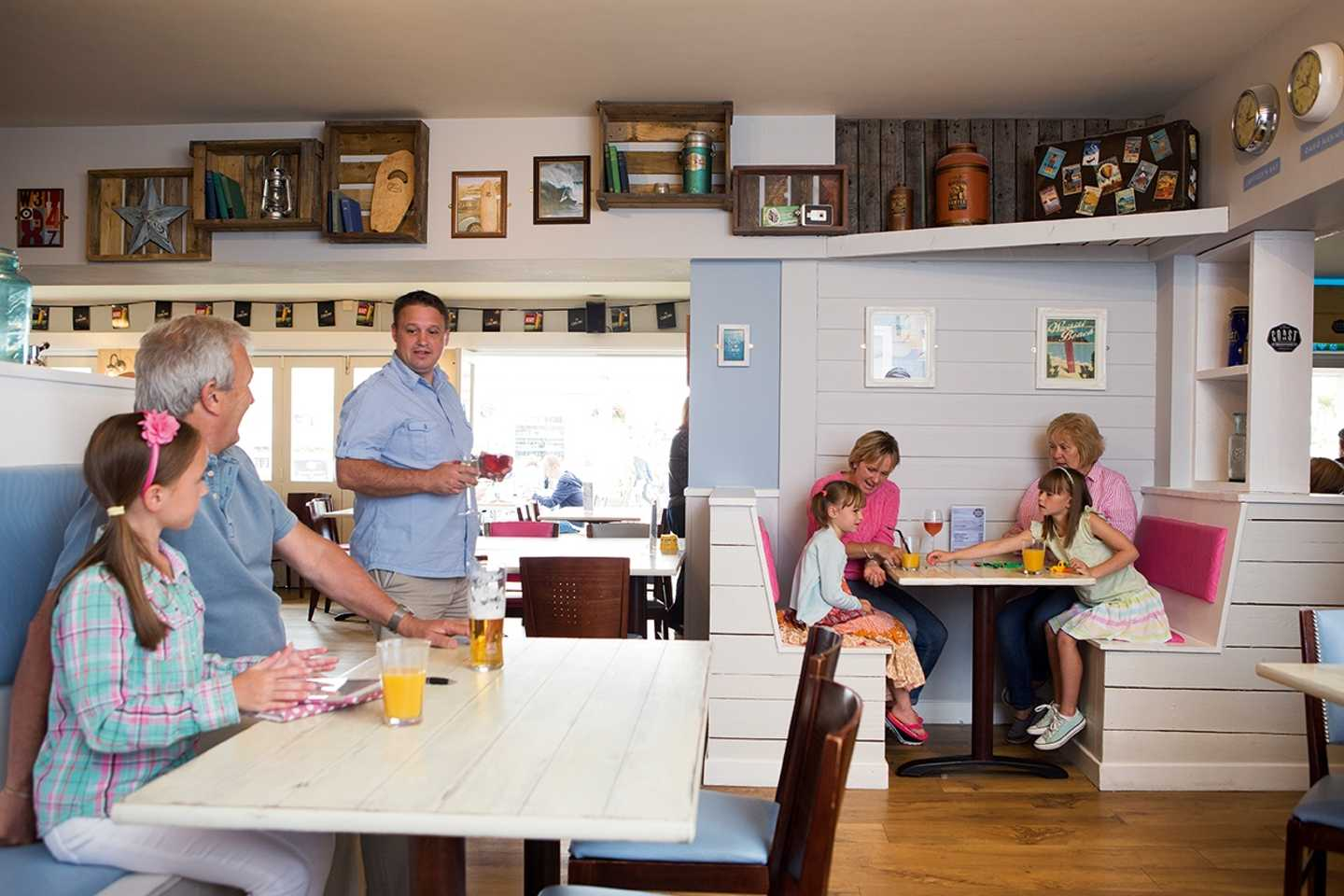 Owners in the Owners' Lounge at Perran Sands