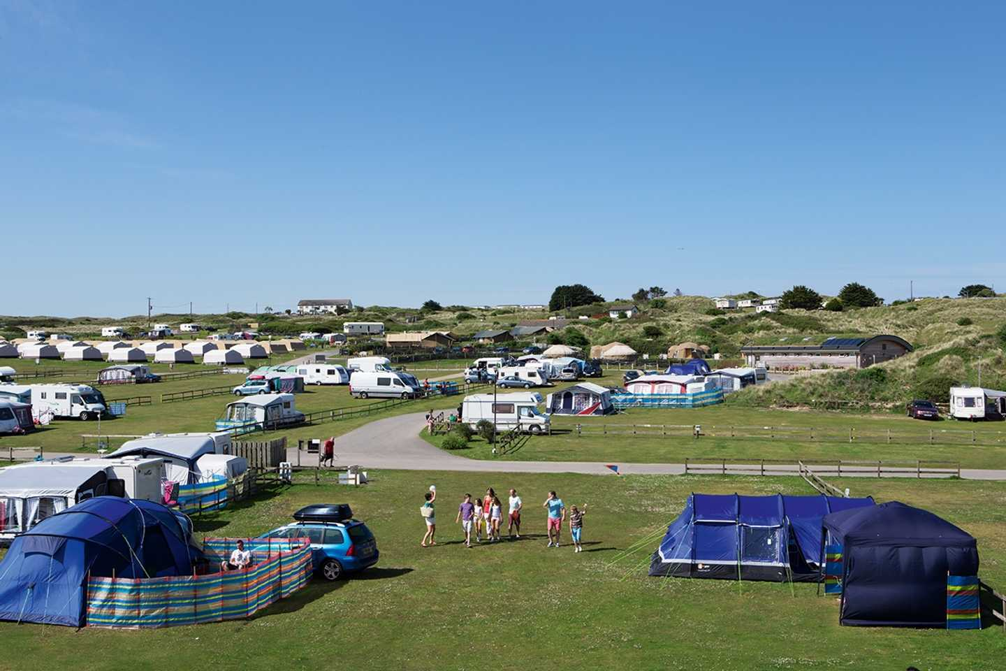 Aerial view of the touring and camping area