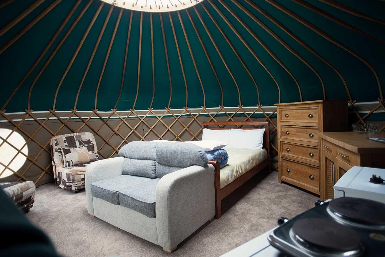 Yurts at Perran Sands