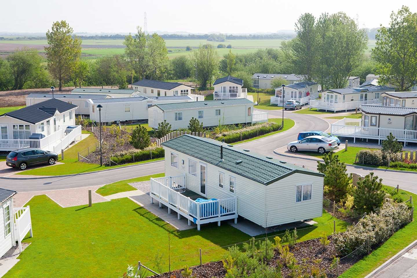 View of the caravans on the park