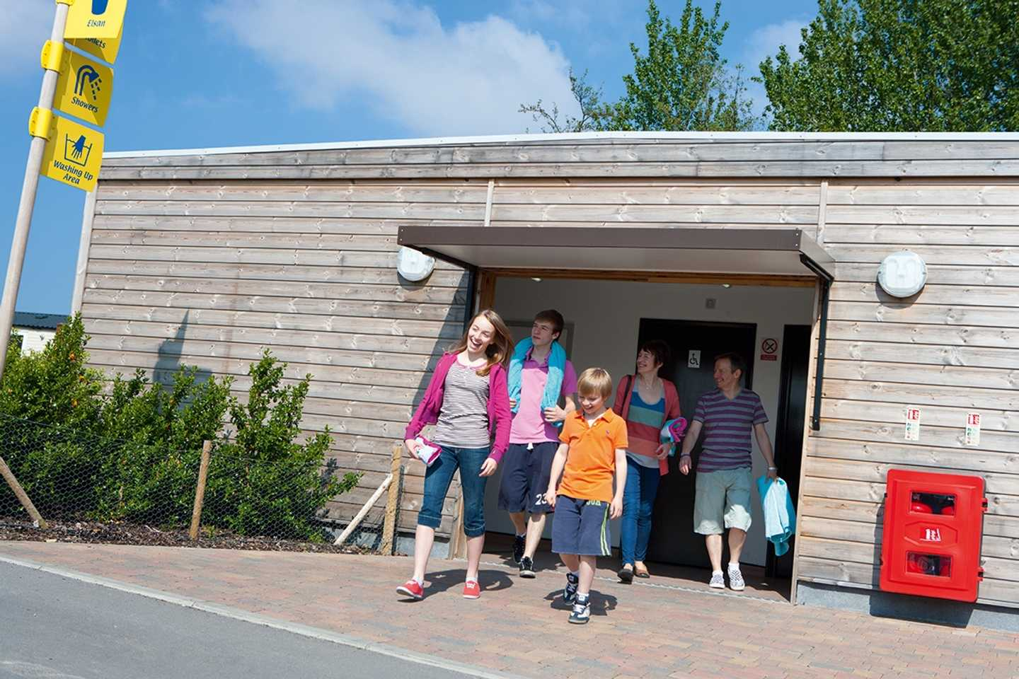 Guests using the touring facilities at Marton Mere