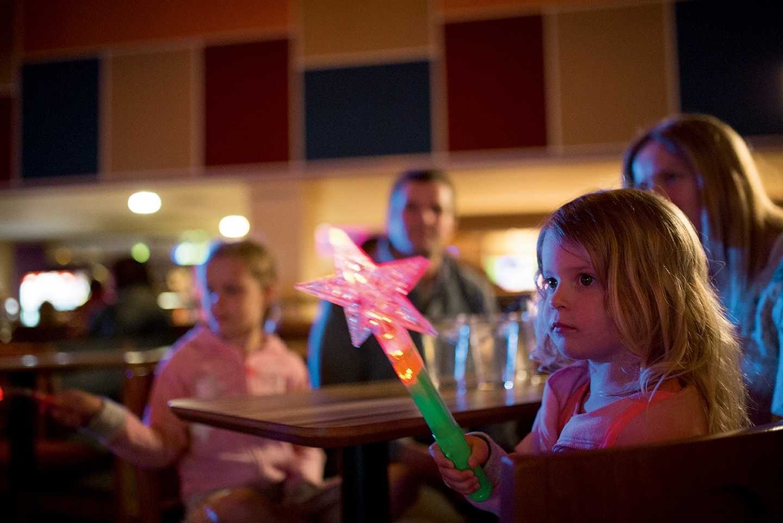 Children enjoying the evening entertainment