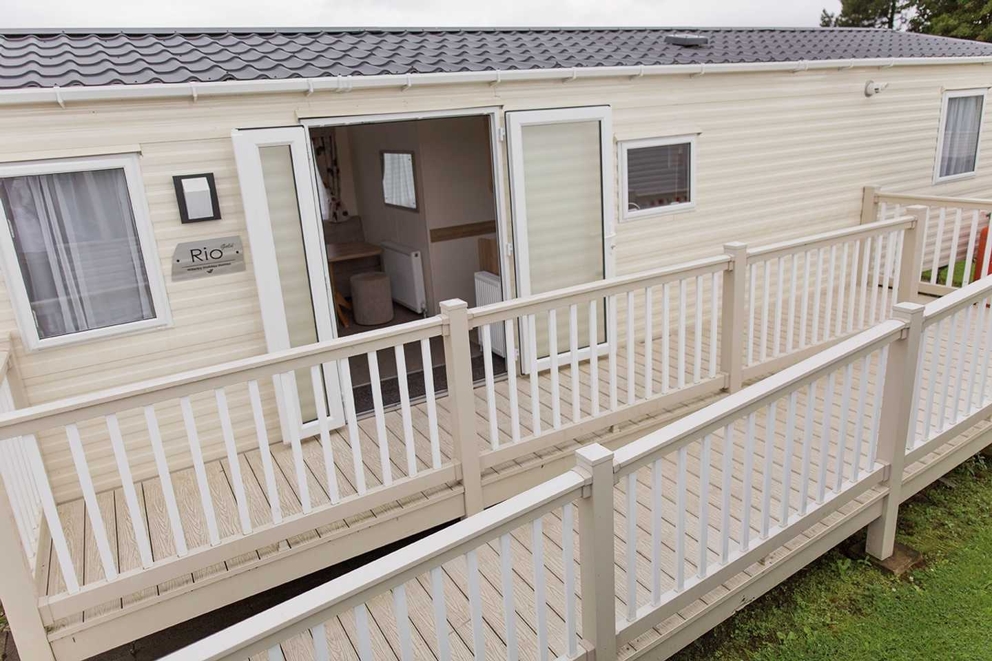 An Adapted caravan wheelchair access ramp