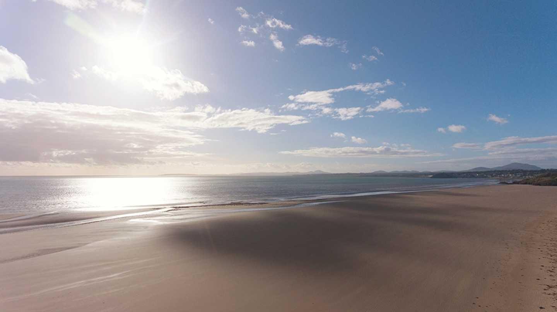 Stunning views of the beach at Greenacres Holiday Park