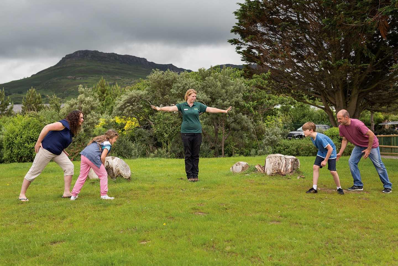 Family playing Nature Rockz activities