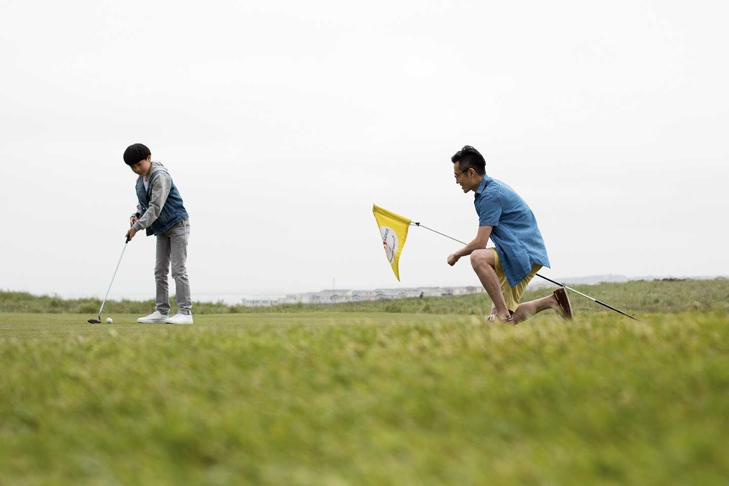 Guests playing a round of golf on the 18-hole golf course at Berwick