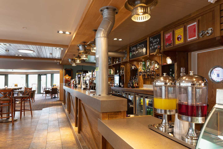 Inside the restaurant and bar area at Seton Sands, Scotland