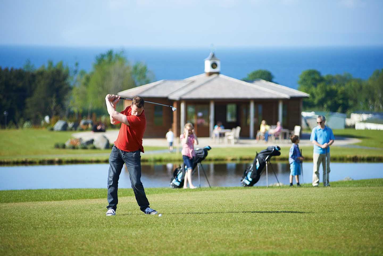 9 hole golf course at Seton Sands, Scotland