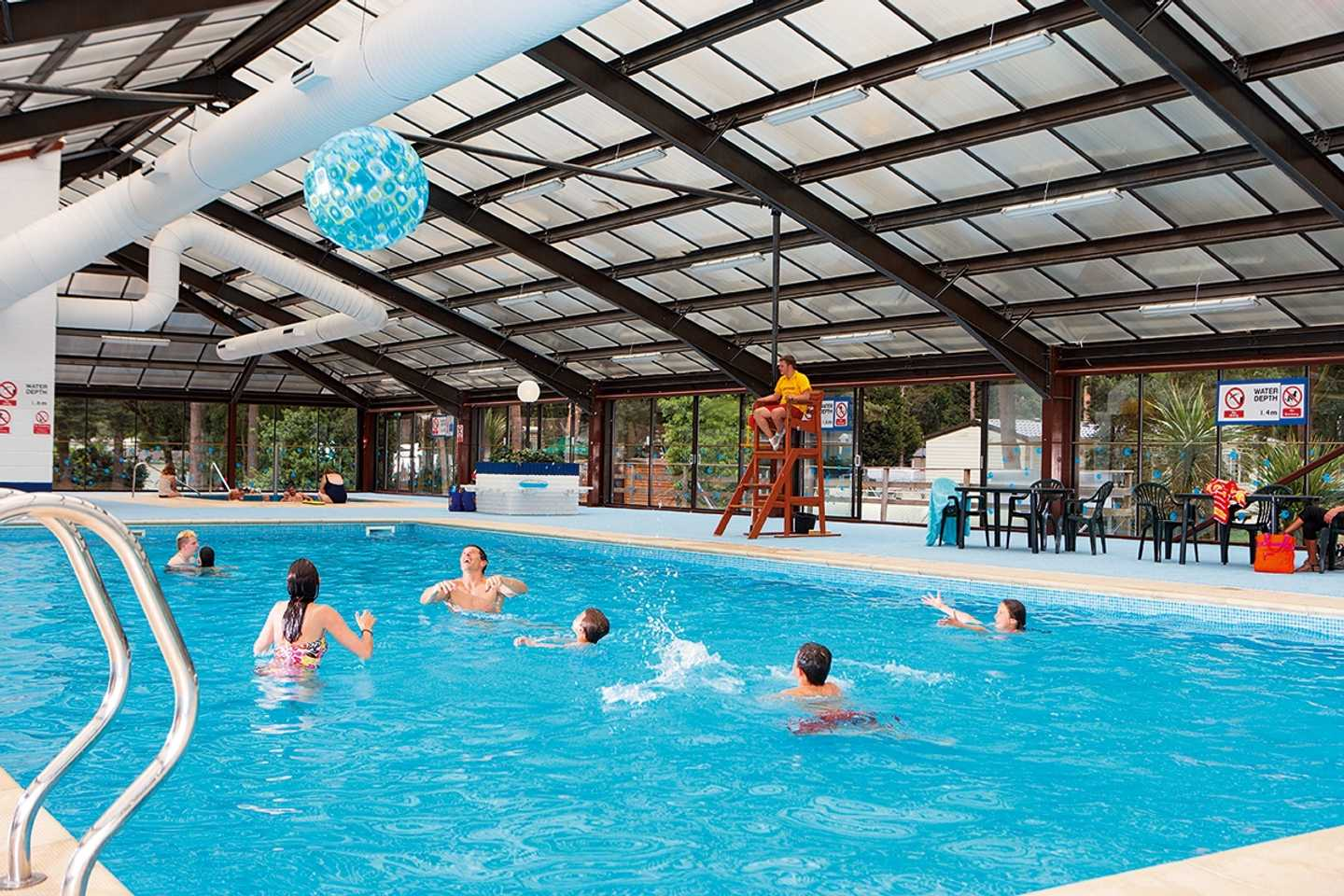 Family fun in the indoor pool at Wild Duck