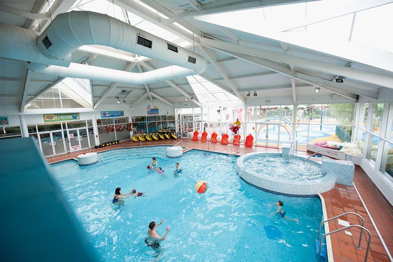 The indoor pool at Cala Gran
