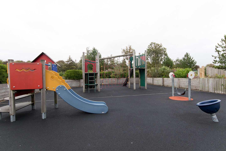 An outdoor play area at Cala Gran