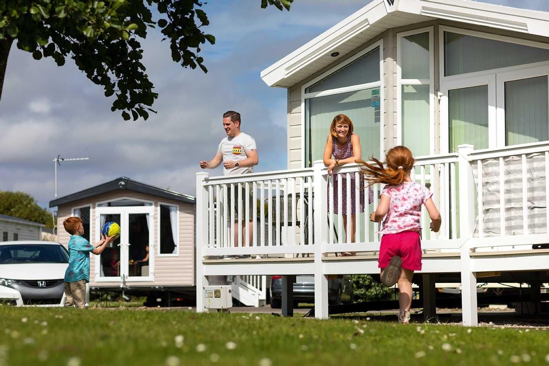 A family staying at their holiday home at Cala Gran