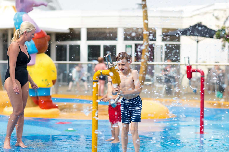 Kids splashing about in the SplashZone