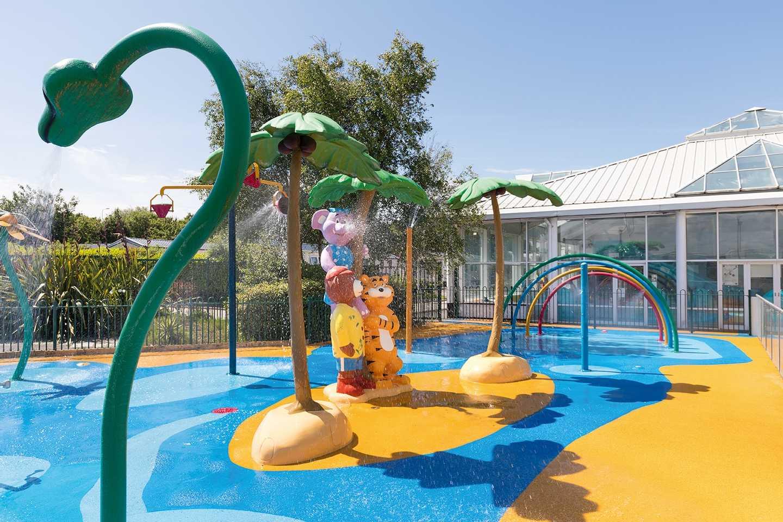 The outdoor SplashZone at Cala Gran