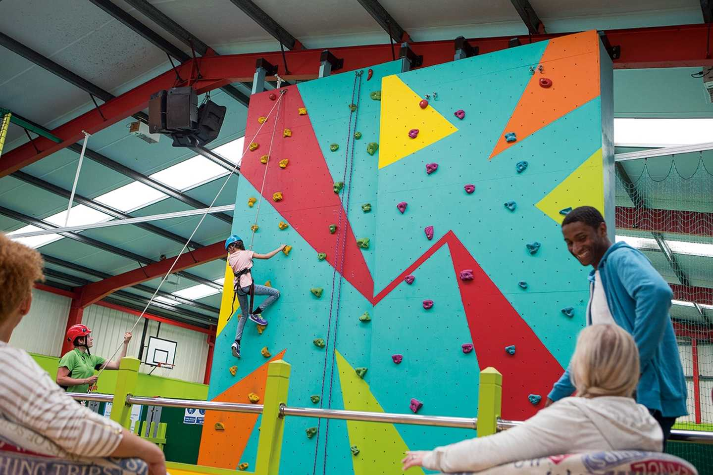 Indoor climbing wall at Presthaven