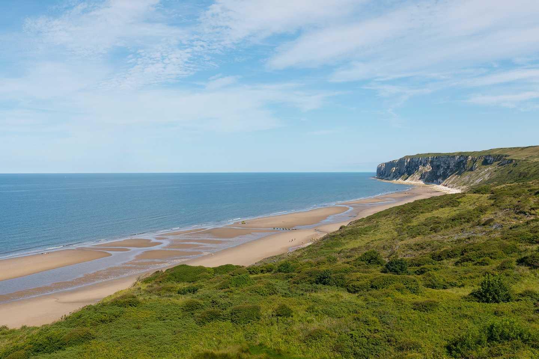 Coastal view of the beach