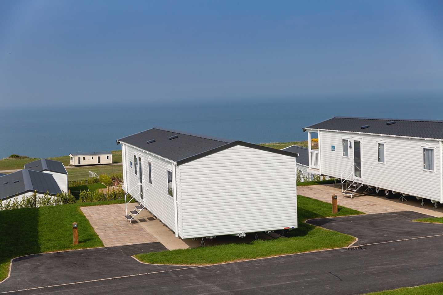 Dedicated parking space complete with sea views
