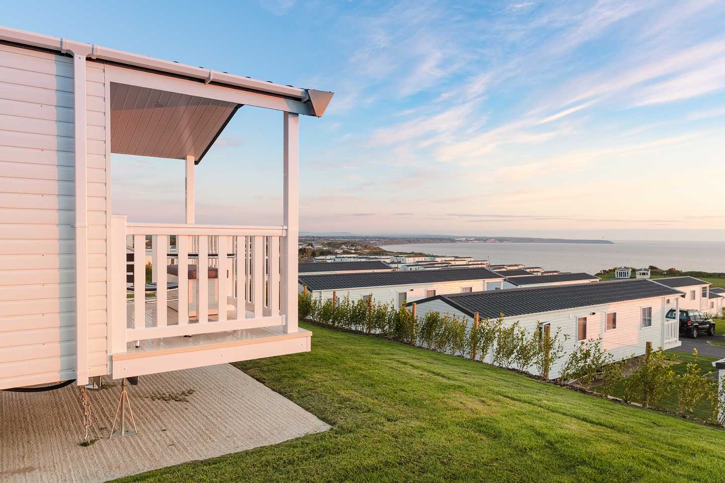 View of the a Prestige with decking at Brigg View