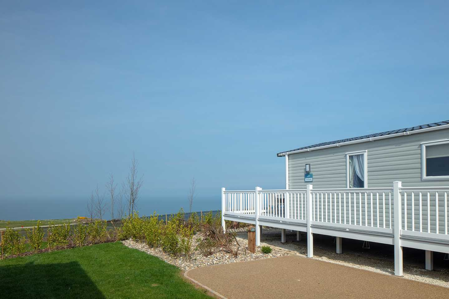 Views from the caravan at Reighton Sands