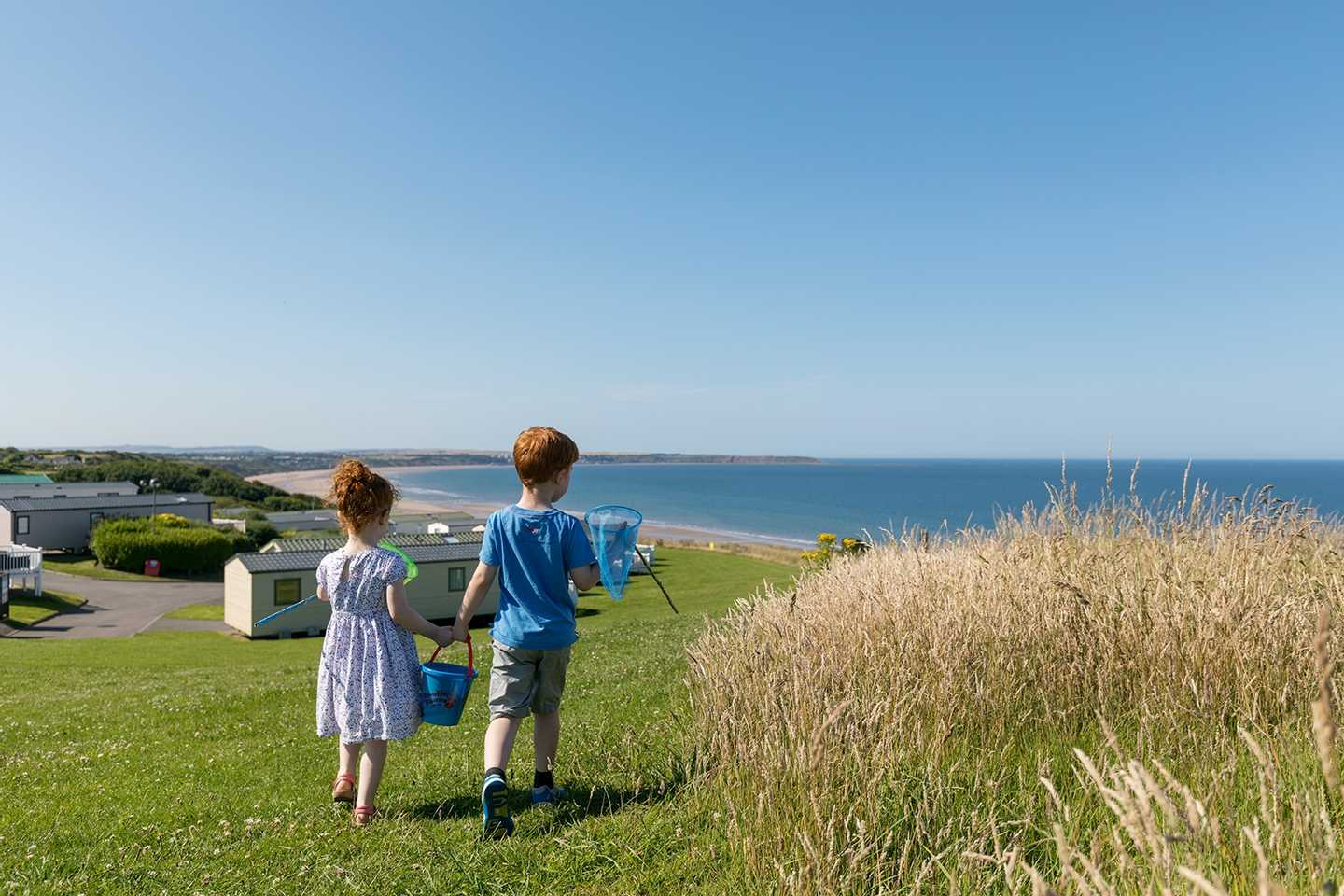 View of the sea from Reighton Sands Holiday Park