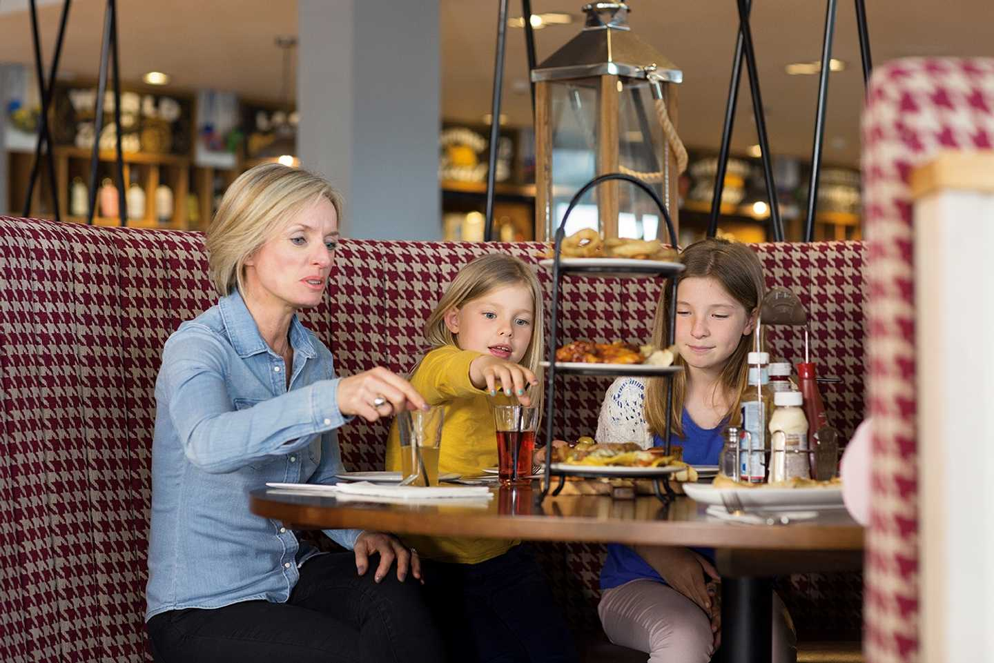 Guests eating in the Hawkwood restaurant