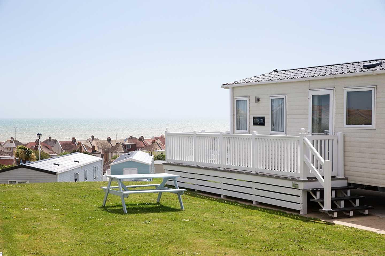 Standard caravan with seaview at Combe Haven