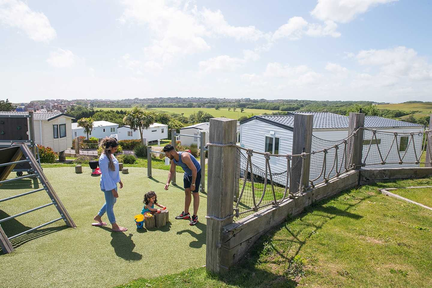 Family fun in the outdoor play area