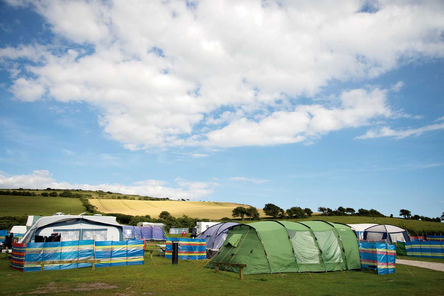 The view beyond the touring and camping area