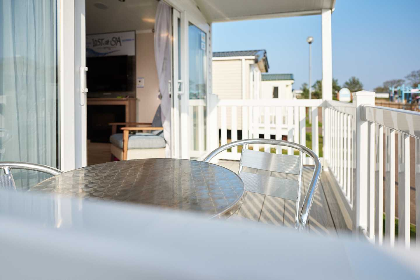 A representation of a Platinum with decking decking area